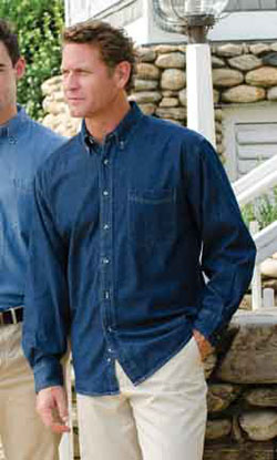 Jonathan Corey Adult 6.5 Ounce Long sleeve Denim Shirt