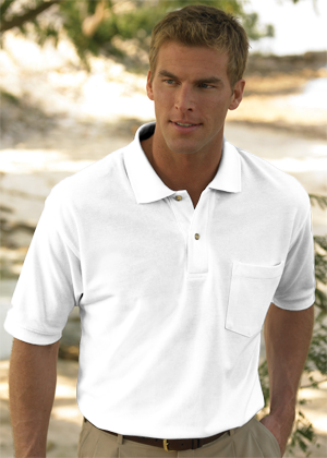 Inner Harbor 6.8 Ounce Mainsail Short Sleeve 100% Ringspun Combed Cotton Piquè Polo With Pocket